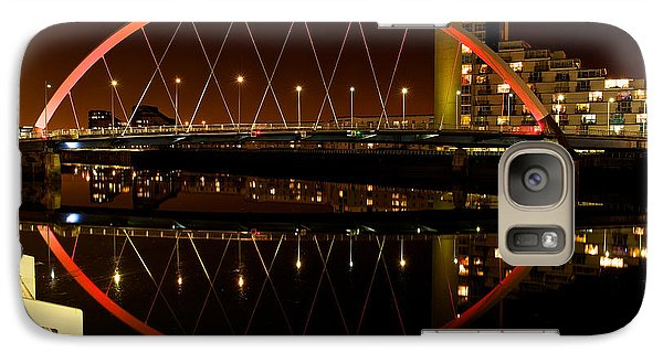 Galaxy Case featuring the photograph The Clyde Arc In Red by Stephen Taylor