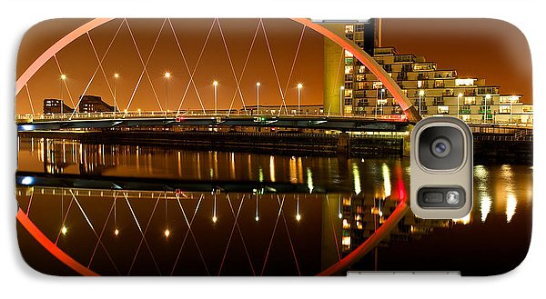 Galaxy Case featuring the photograph The Clyde Arc On An Orange Sky by Stephen Taylor