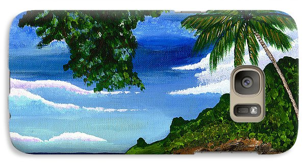 Galaxy Case featuring the painting The Coconut Tree by Laura Forde