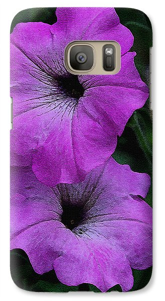 Galaxy Case featuring the photograph The Color Purple   by James C Thomas