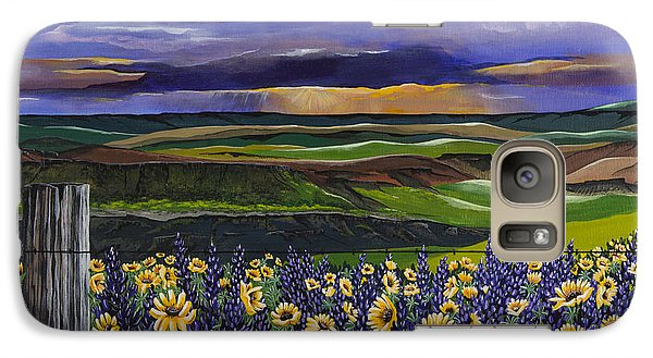 Galaxy Case featuring the painting The Colors Of The Plateau by Jennifer Lake