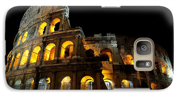 Galaxy Case featuring the photograph The Colosseum At Night by Jeremy Voisey