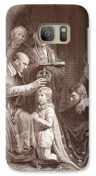The Coronation Of Henry Vi, Engraved Galaxy S7 Case by John Opie