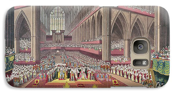 The Coronation Of King William Iv And Queen Adelaide, 1831 Colour Litho Galaxy S7 Case by English School