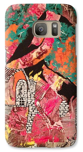 Galaxy Case featuring the painting The Cottage At The Farm by Sima Amid Wewetzer