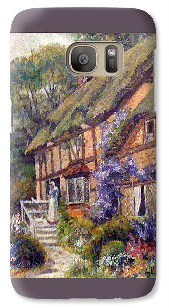 Galaxy Case featuring the painting The Cottage by Donna Tucker