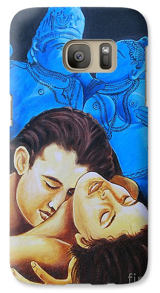 Galaxy Case featuring the painting The Course Of Love by Ragunath Venkatraman