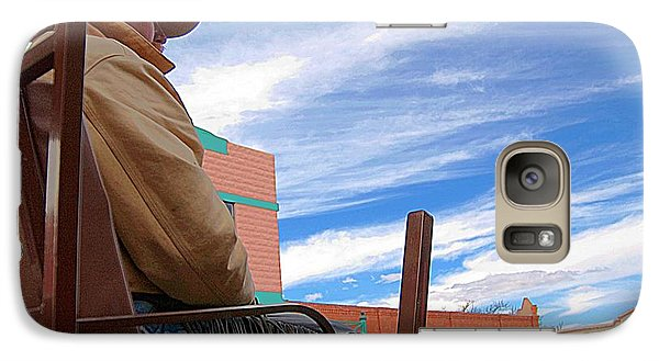 Galaxy Case featuring the photograph The Cowboy by Bob Pardue