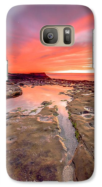 Galaxy Case featuring the photograph The Crack In The Rock by Robert  Aycock