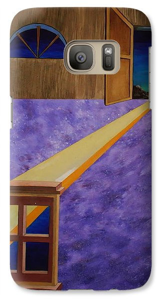 Galaxy Case featuring the painting The Crack Of Dawn by Stuart Engel