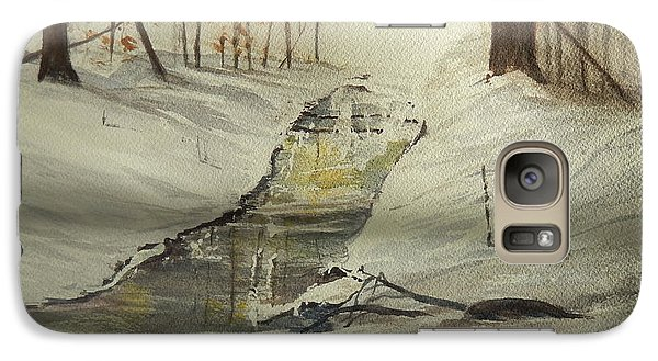 Galaxy Case featuring the painting The Creek In Winter by Betty-Anne McDonald