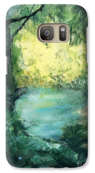 Galaxy Case featuring the painting The Creek by Mary Lynne Powers
