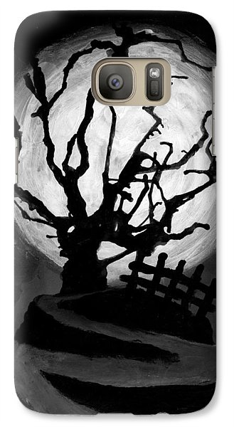 Galaxy Case featuring the painting The Crooked Tree by Salman Ravish