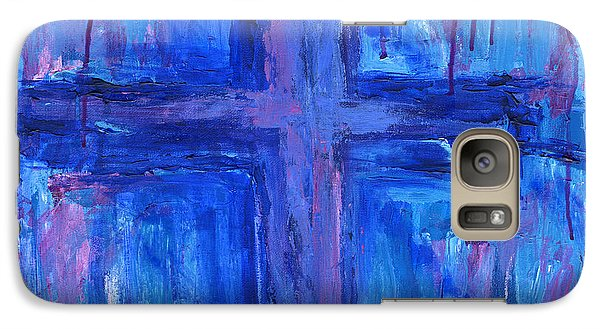 Galaxy Case featuring the painting The Crossroads #2 by Roz Abellera Art