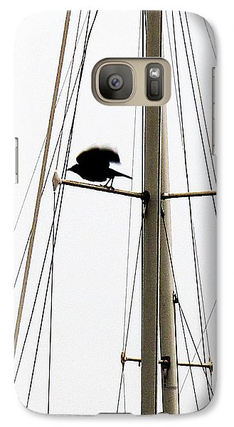 Galaxy Case featuring the photograph The Crow Leaving The Absent Crows Nest by John King
