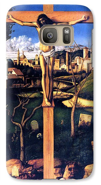 Galaxy Case featuring the painting The Crucifixion 1503 Giovanni Bellini by Karon Melillo DeVega
