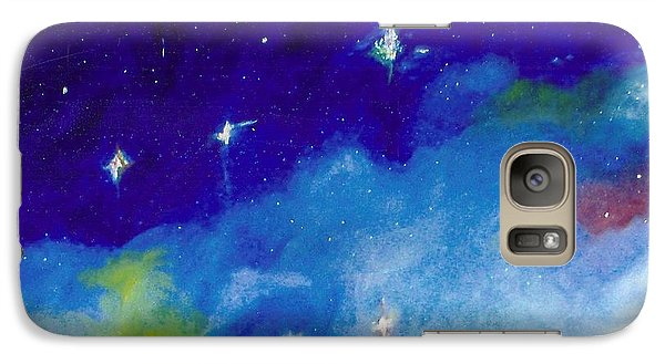 Galaxy Case featuring the painting The Crux -cross by Carrie Maurer