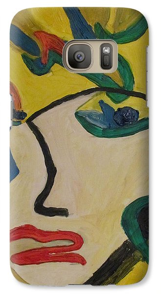 Galaxy Case featuring the painting The Crying Girl by Shea Holliman