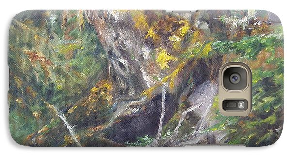 Galaxy Case featuring the painting The Crying Log by Lori Brackett