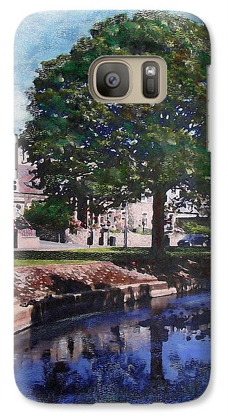 Galaxy Case featuring the painting The Cuddy In Beltane Week Peebles by Richard James Digance