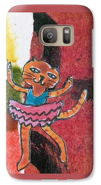 Galaxy Case featuring the mixed media The Curtain Call by Catherine Redmayne