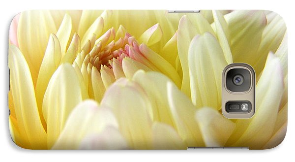Galaxy Case featuring the photograph Yellow Dahlia by Margie Amberge
