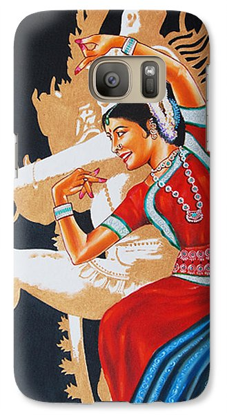 Galaxy Case featuring the painting The Dance Divine Of Odissi by Ragunath Venkatraman