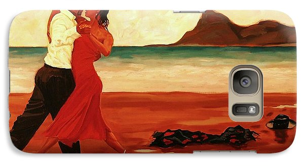 Galaxy Case featuring the painting The Dance Of Passion by Janet McDonald