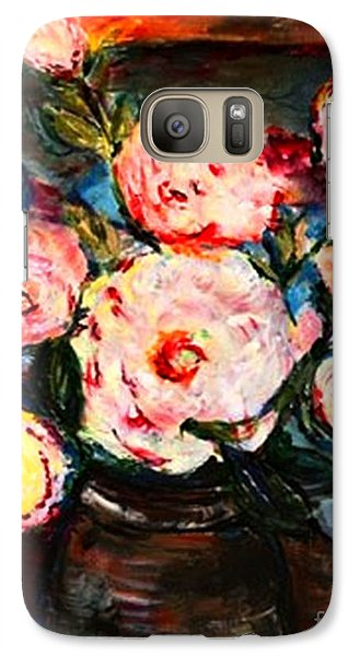Galaxy Case featuring the painting The Dancer's Peonies by Helena Bebirian