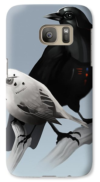 Galaxy Case featuring the painting The Dark Side Of The Flock by Michael Myers