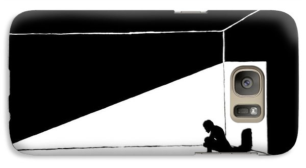 Galaxy Case featuring the painting The Darkned Room by Justin Moore