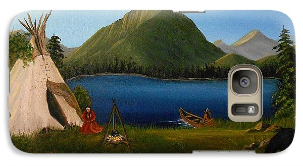 Galaxy Case featuring the painting Dawn Of Tohidu by Sheri Keith