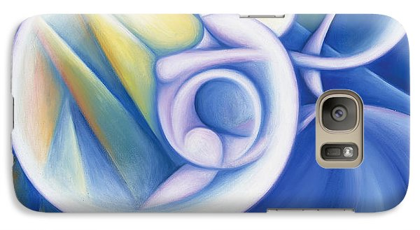 Galaxy Case featuring the painting The Dawning Of Infinity by Tiffany Davis-Rustam