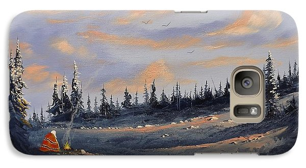 Galaxy Case featuring the painting The Days End by Richard Faulkner