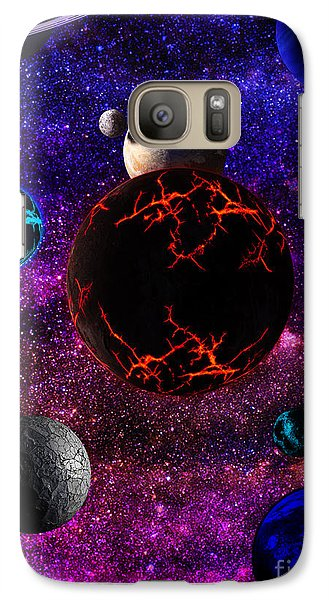 Galaxy Case featuring the digital art The Dead Solar System  by Naomi Burgess