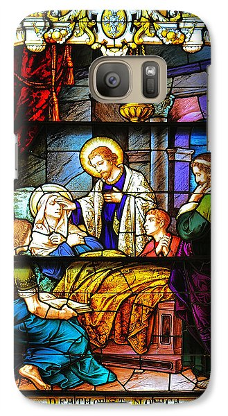 Galaxy Case featuring the photograph The Death Of St Monica St Augustine by Christine Till
