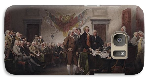 The Declaration Of Independence, July 4, 1776 Galaxy S7 Case by John Trumbull