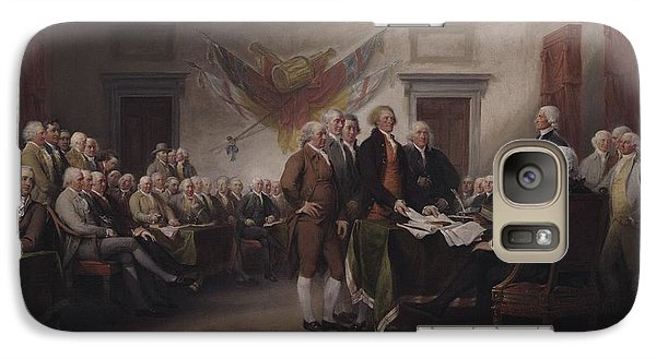 The Declaration Of Independence, July 4, 1776 Galaxy Case by John Trumbull