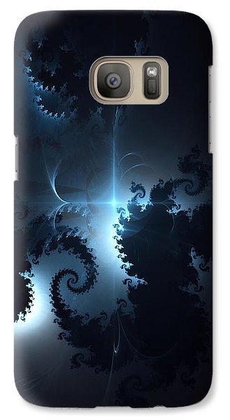 Galaxy Case featuring the digital art The Depths 2 by Arlene Sundby