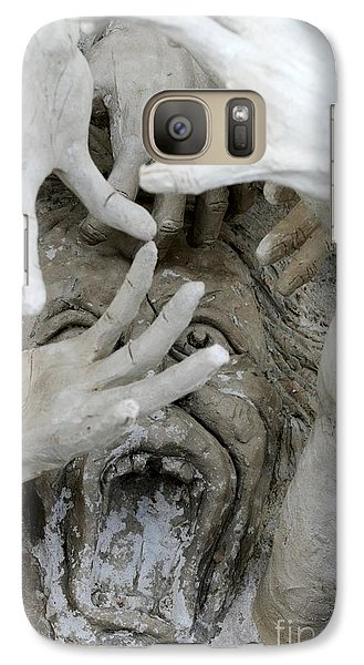 Galaxy Case featuring the photograph The Descension Of The Consumer  by Nola Lee Kelsey