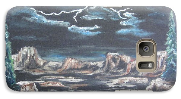 Galaxy Case featuring the painting The Desert Long Forgotten by Cheryl Pettigrew