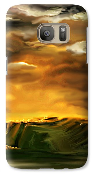 Galaxy Case featuring the painting The Desertland by Persephone Artworks
