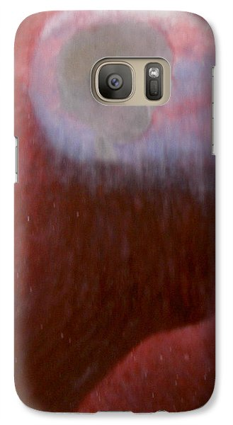 Galaxy Case featuring the painting the Dialogue between Human and aliens by Min Zou