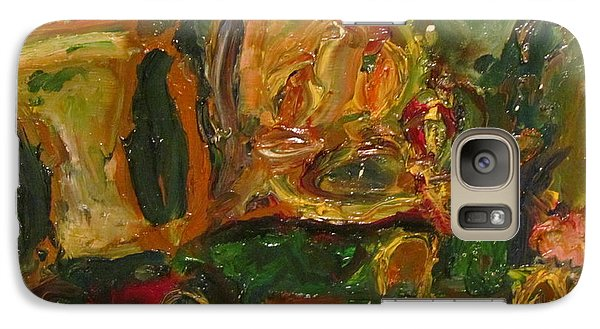 Galaxy Case featuring the painting The Dining Room by Shea Holliman