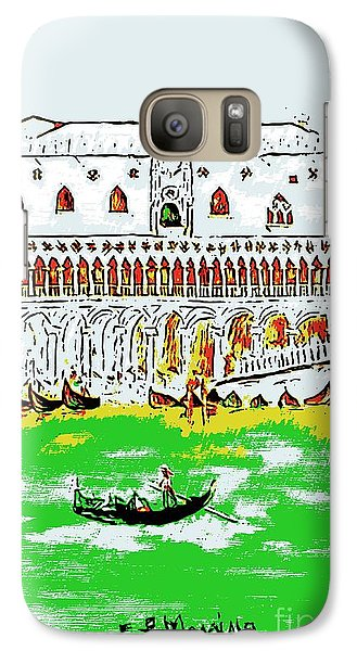 Galaxy Case featuring the painting The Doge's Palace by Loredana Messina