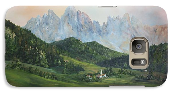 Galaxy Case featuring the painting The Dolomites Italy by Jean Walker