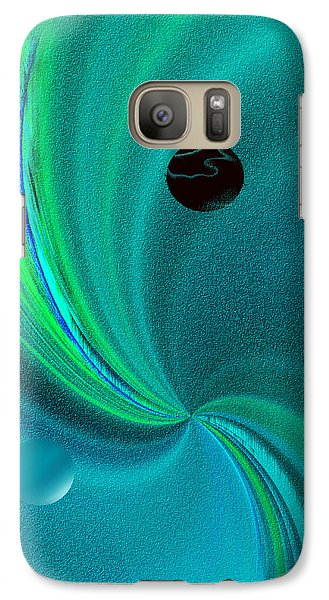 Galaxy Case featuring the painting  Dolphin Kiss by Yul Olaivar