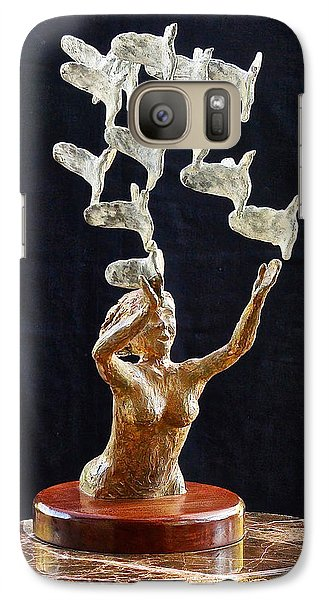 Galaxy Case featuring the sculpture The Dove Maiden 2 by Dan Redmon
