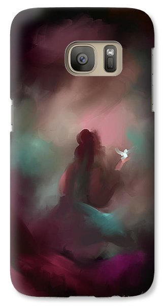 Galaxy Case featuring the painting I Have Lost Her-  I Miss You by Steven Lebron Langston