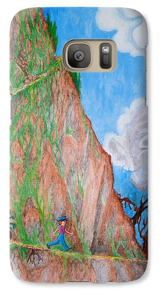Galaxy Case featuring the painting The Downward Path by Matt Konar